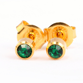 Emerald Birthstone Ear Stud