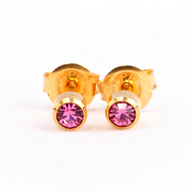 Rose Birthstone Ear Stud