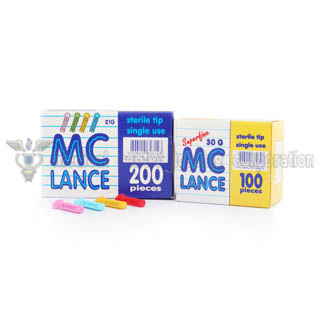 MC Lance Sterile Blood Lancet,  200/bx.